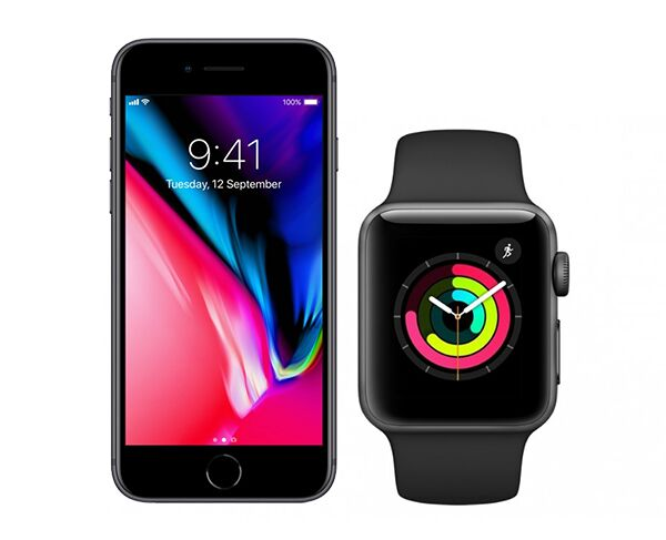 Apple iPhone 8 64gb and GPS Watch Series 3 Bundle